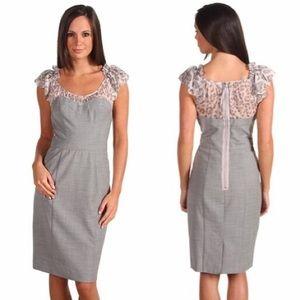 Rebecca Taylor Gray Leopard Silk Dress